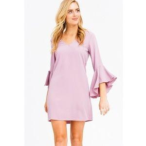 NWT Dusty Pink VNeck Trumpet Mini Dress